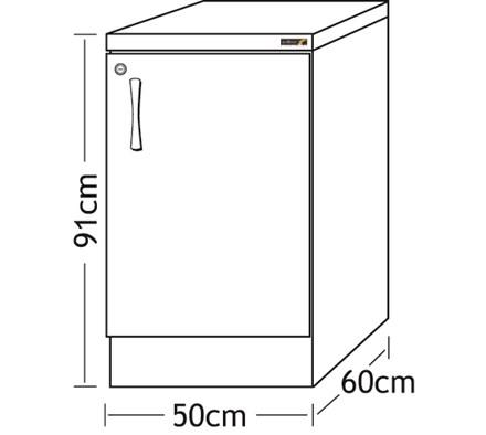 Cabinet Base Unit Beech 50cm With Grey Worktop Dental