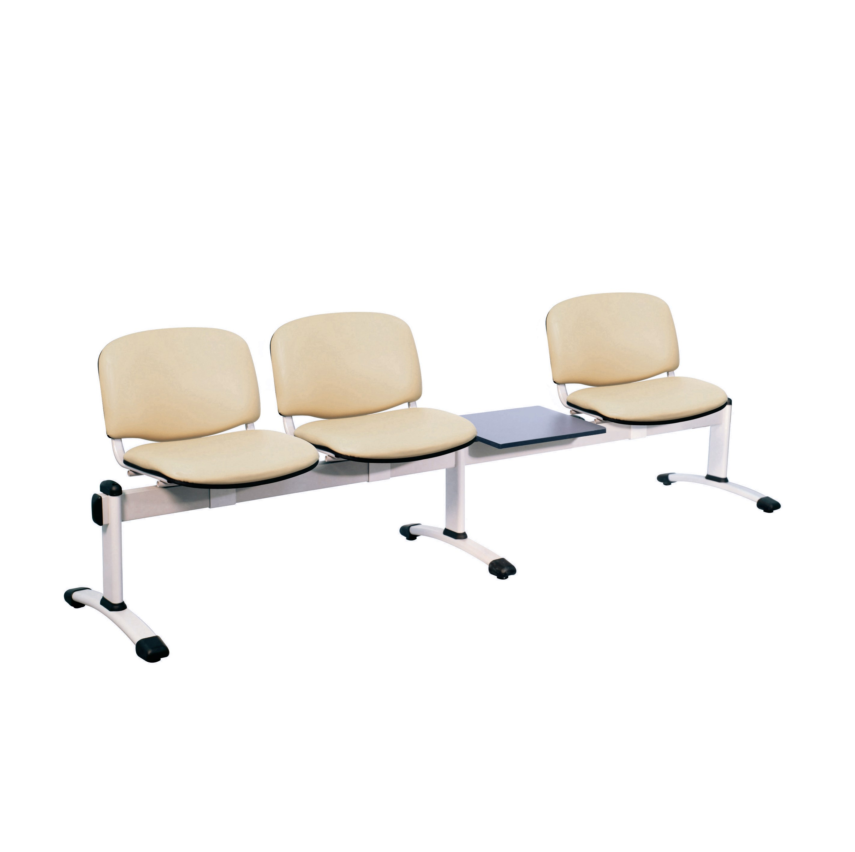 Chair Visitor Venus Modular 3 Seat 1 Table Moulded Plastic