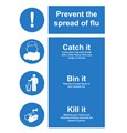 SIGN - FLU - CATCH IT BIN IT KILL IT LAMINATED