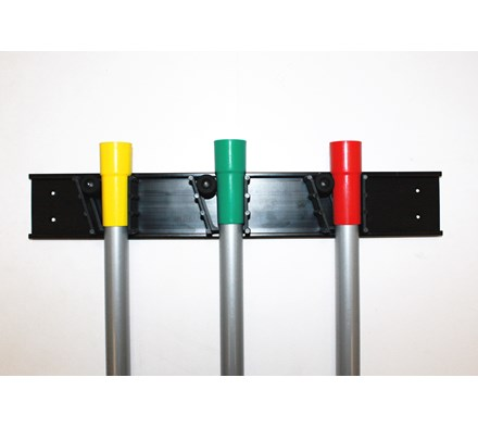 MOP/BROOM STALE HOLDER (HOLDS 3 HANDLES)
