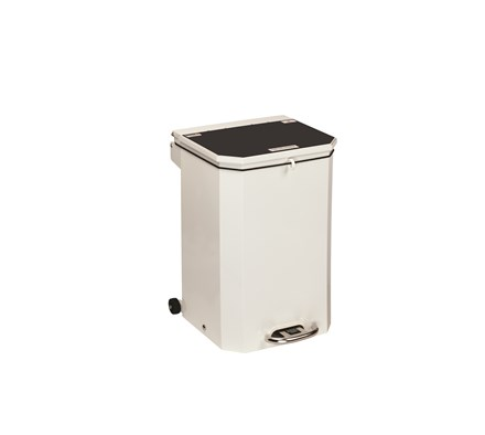 BIN PEDAL 50 LTR WITH BLACK LID FOR DOMESTIC WASTE