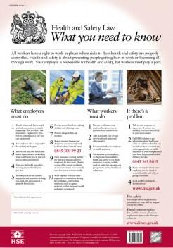 A3 HSE Super-Strong feuilleté Health /& Safety Poster Authentique Officiel HSE version