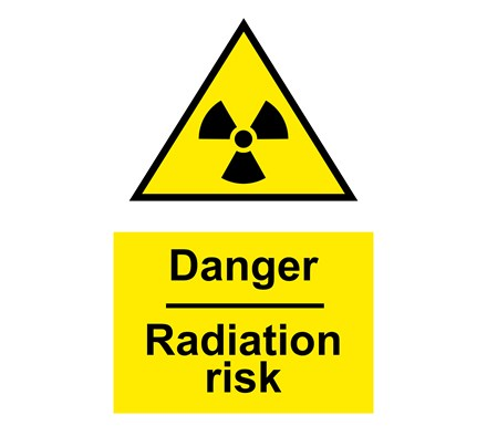 Sign Radiation With Symbol A4 Portrait Laminated