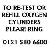 Oxygen Cyclinders, Refilling & Re - Testing