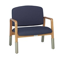 ARMCHAIR BARIATRIC (DOHERTY) VARIABLE HEIGHT (MULBERRY)