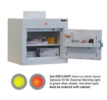 CABINET CONTROLLED DRUGS (1 DOOR) 36X34X27CM (1 SHELF) WITH WARNING LIGHT