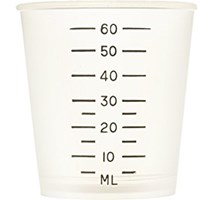 MEDICINE MEASURING POT 60mls x 1