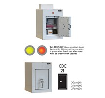 CABINET CONTROLLED DRUGS (1 DOOR) 36X21X27CM (1 SHELF) WITH WARNING LIGHT