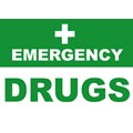 SIGN - EMERGENCY DRUGS LAMINATED A4