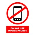 SIGN - MOBILE PHONE DO NOT USE A4 LAMINATED