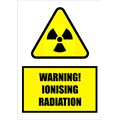 SIGN - WARNING IONISING RADITATION (LAMINATED)