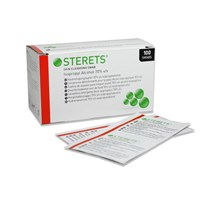 STERETS PRE-INJECTION WIPES X 100 (70% ISOPROPYL ALCOHOL) (OTC)