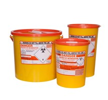 SHARPS BIN+LID 0.6LTR ORANGE
