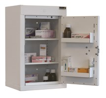 CABINET CONTROLLED DRUGS (1 DOOR) 55X34X27CM (2 SHELVES) NO WARNING LIGHT