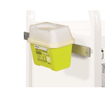 BRACKET (SUNFLOWER)  FOR FRONTIER SHARPS BOX UP TO 1 LTR FOR VISTA TROLLEY INCLUDES MEDI-RAIL