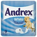 TOILET ROLL ANDREX 9 ROLLS (WHITE)
