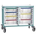 TROLLEY CARETRAY - DOUBLE 4 X 100MM, 3 X 160MM TRAYS