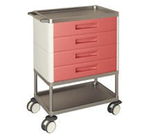 TROLLEY MULTIFUNCTION 4 STANDARD GREEN DRAWERS 2 SHELVES