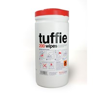 TUFFIE DISINFECTANT WIPES, TUB OF 200 (70%IPA)