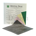"RUBBER DAM MEDIUM DARK 6"" X 6"" X 36 (HYGENIC)"