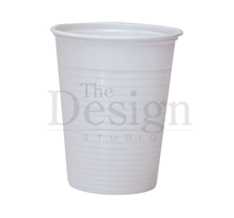 CUP DISPOSABLE PLASTIC (DEHP) WHITE LIGHT DUTY 180ML X 3000