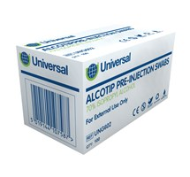 PRE-INJECTION WIPE (ALCOTIP) (70% ISOPROPYL ALCOHOL) X 100