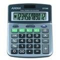 CALCULATOR (AURORA) SEMI-DESK 12 DIGIT DT398 SILVER/GREY X 1