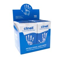 CLINELL WIPES ANTIBACTERIAL HAND X 100