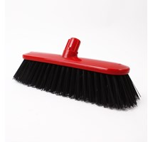 "BROOM HEAD HARD (COLOUR CODED) 10.5"" RED X 1"