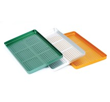 INSTRUMENT TRAY (UNODENT) 284 X 183MM ALLUMINIUM PERFORATED AUTOCLAVABLE GOLD