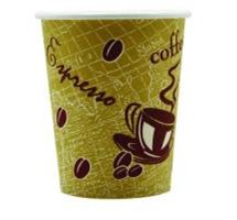 CUP 8OZ DISPOSABLE PAPER PRINTED DESIGN (COFFEE) X 50