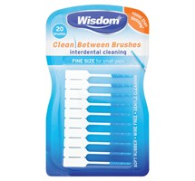 BRUSH INTERDENTAL (WISDOM) CLEAN BETWEEN FINE BLUE X 12